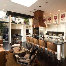 Eclectic Kitchen by Glenat Duxbury Interior Design