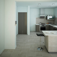 Contemporary Kitchen by Florida Tile, Inc.