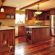 Rustic Kitchen by Hebert Design Build