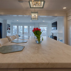 Contemporary Kitchen by Rye Marble Inc