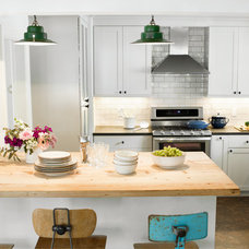 Eclectic Kitchen by Landing Design & Development