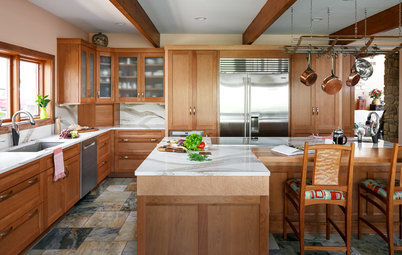 Kitchen of the Week: Cherry Cabinets and 2 Islands Wow in Indiana