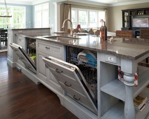 kitchen island photos panel front dishwasher home design ideas pictures 13516
