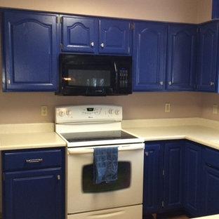 Ante In Legno Massello Per Cucina.Cucina Con Ante Blu Milwaukee Foto E Idee Per Ristrutturare E