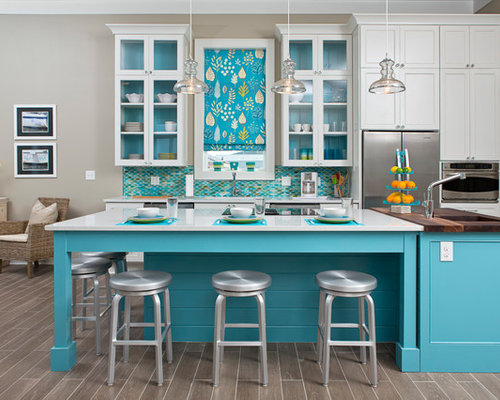 houzz white kitchen cabinets best turquoise backsplash design ideas amp remodel pictures 4360