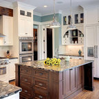Microhouse fremont cottage - reclaimed fir cabinets - Craftsman - Kitchen - Seattle - by microhouse