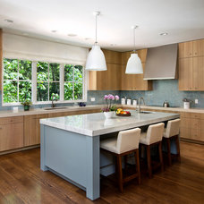 Transitional Kitchen by Simpson Design Group Architects