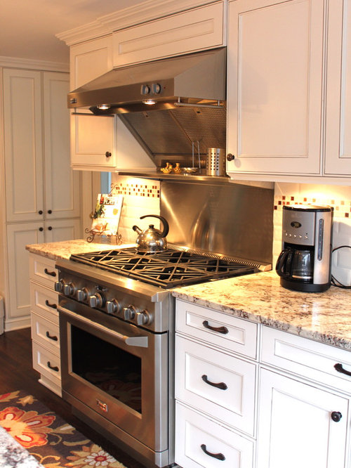 White Glazed Cabinets Home Design Ideas Pictures Remodel