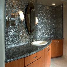 Contemporary Bathroom by DeWils Custom Cabinetry
