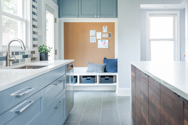 Transitional Kitchen by Idea Space Architecture + Design