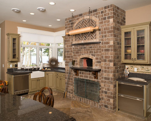Indoor Wood-Fired Pizza Oven Home Design Ideas, Pictures, Remodel and Decor