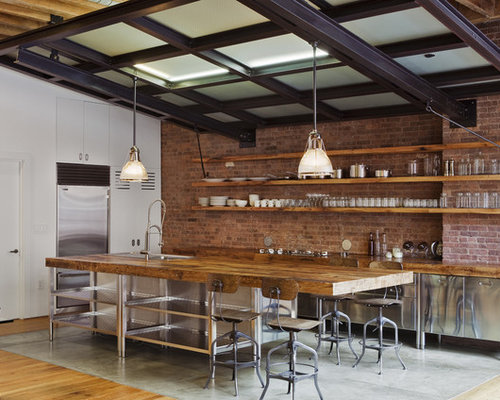 25 best industrial kitchen with stainless steel cabinets ideas