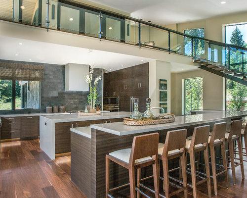moderne wohnk chen mit zwei k cheninseln ideen bilder. Black Bedroom Furniture Sets. Home Design Ideas