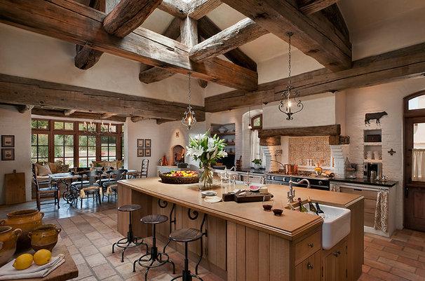 Mediterranean Kitchen by Higgins Architects
