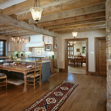 Rustic Kitchen by E. B. Mahoney Builders, Inc.