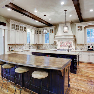French Country in Garden Oaks - Kitchen with Two Islands