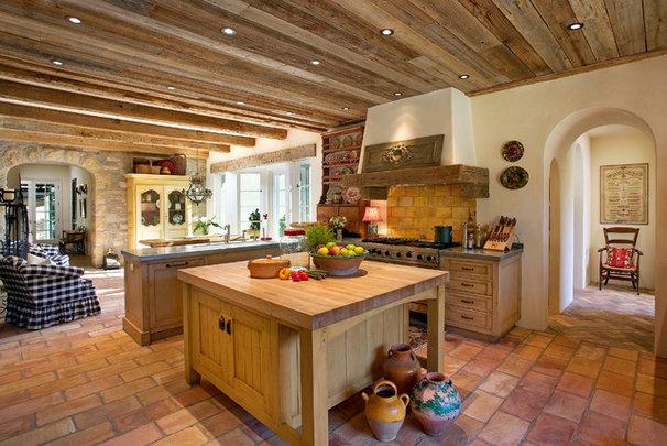 Mediterranean Kitchen by Giffin & Crane General Contractors, Inc.