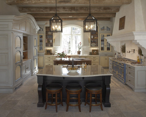 Rustic Kitchen Appliance   Inspiration For A Rustic U Shaped Kitchen  Remodel In Minneapolis With