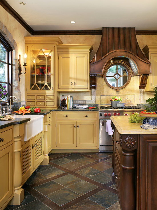 French Country Kitchen Cabinets Houzz - French country cabinets