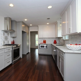 Fresh and bright complete kitchen remodel with dual tone cabinetry