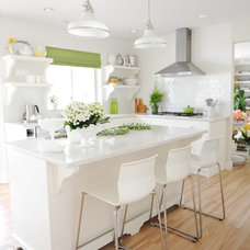 Transitional Kitchen by Maria Killam