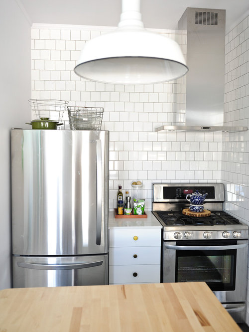 Great Example Of An Eclectic Kitchen Design In Vancouver With Stainless Steel  Appliances