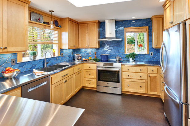 Transitional Kitchen by Powell Construction