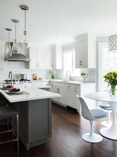 Transitional Kitchen By Karen Berkemeyer Home