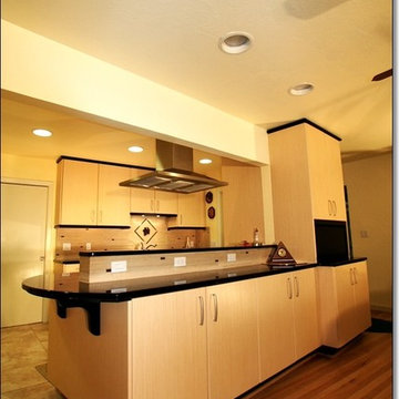 Fresno Kitchen Remodel: Engineered Bamboo Cabinets, Zodiac Countertops