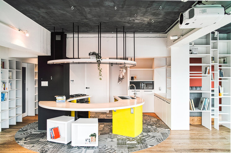 Industrial Kitchen by blue studio