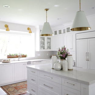 75 Beautiful Kitchen With Quartz Countertops And Subway Tile Backsplash Pictures Ideas January 2021 Houzz
