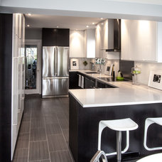 Contemporary Kitchen by Level One Construction