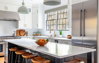 New Layout and a Longer Island for a Roomier Family Kitchen
