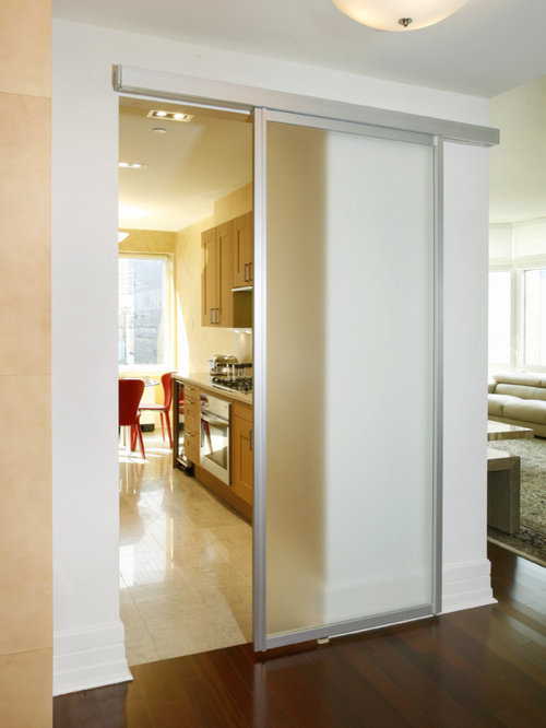Translucent doors houzz for Kitchen entrance door designs