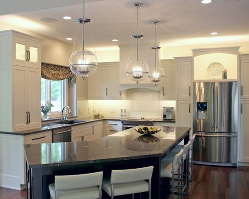 Kitchen Design Ideas, Renovations & Photos with Glass Tiled Splashback