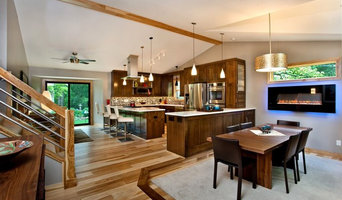 Fun Contemporary Kitchen and Built-In Bookshelves