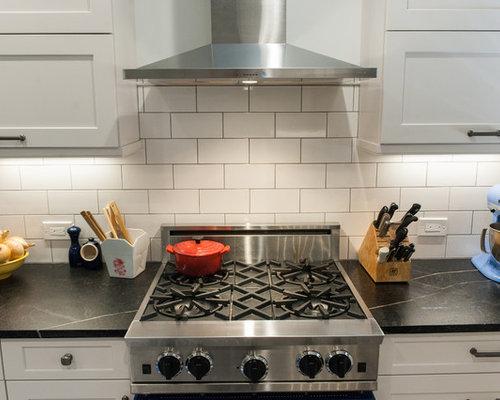 Kitchen Sinks Cork : kitchen in Philadelphia with a farmhouse sink, white splashback, cork ...