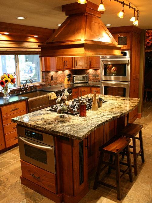 Warm cozy kitchen design ideas remodels photos with for Warm kitchen designs