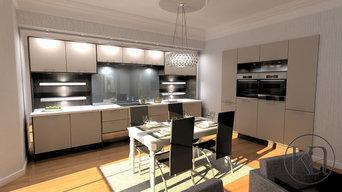 Furnished Contemporary Kitchen Design