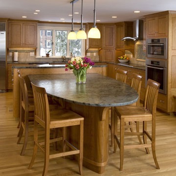 Furniture by Dovetail Custom Cherry KItchen, Wellesley