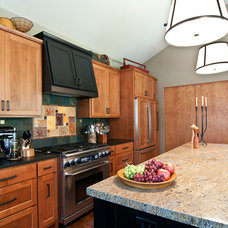 Transitional Kitchen by Louise Lakier