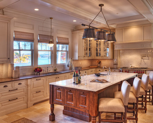 kitchens with white cabinets and tile floors. large beach style enclosed kitchen ideas inspiration for a lshaped kitchens with white cabinets and tile floors n