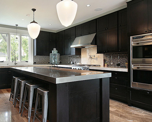 New Orleans Kitchen Design Ideas Renovations Photos With Stainless Steel Worktops