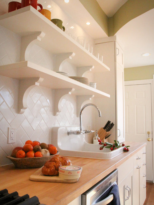 Mid Sized Traditional Galley Medium Tone Wood Floor Enclosed Kitchen Idea  In DC Metro With