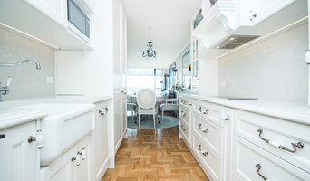 Galley Kitchen in French Provincial Style