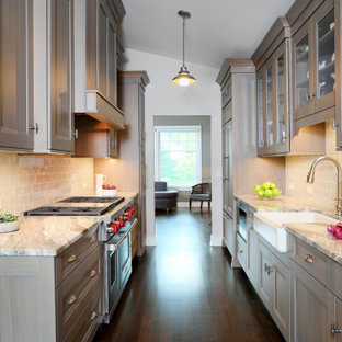 Galley Kitchen with Gray Tones