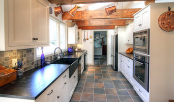 Galley White Country Kitchen