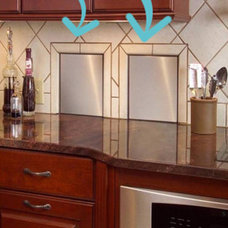 Contemporary Kitchen Garbage & Recycling Chute Doors in Kitchen