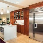 Eclectic Kitchen Botcher Block 10x3 Island Traditional