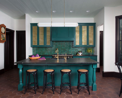 Merveilleux Eclectic Eat In Kitchen Remodeling   Eat In Kitchen   Eclectic Brown Floor  Eat